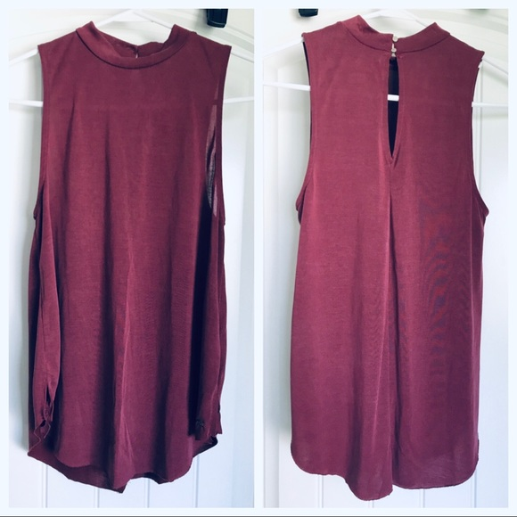 American Eagle Outfitters Tops - High-neck maroon tank
